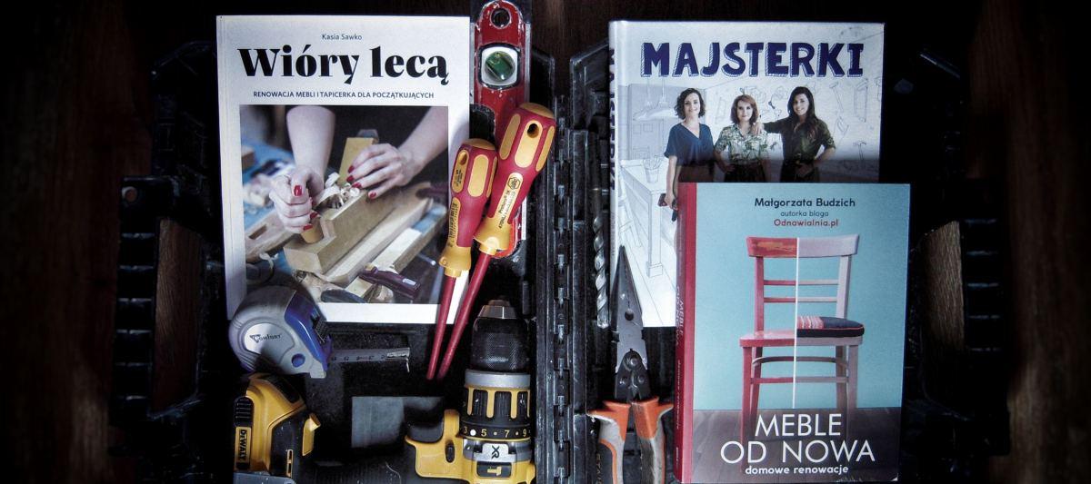 Renowacja mebli – trzy książki dla początkujących