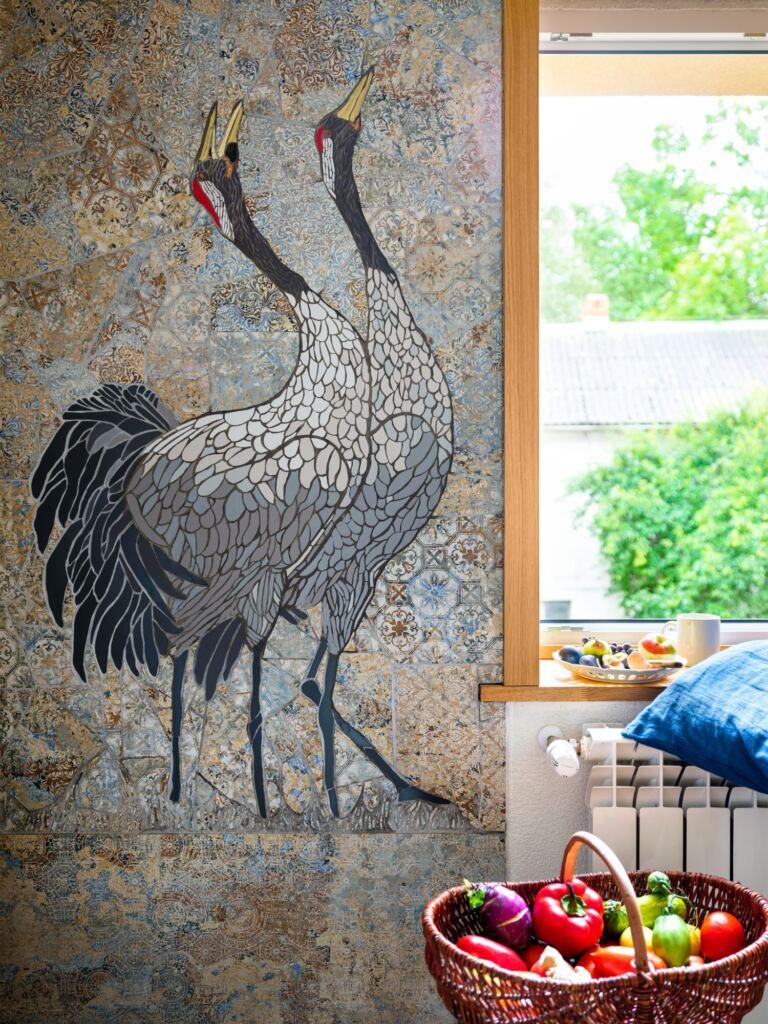 mozaika we wnętrzu w kuchni
